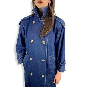 1970's EVAN PICONE denim trench coat